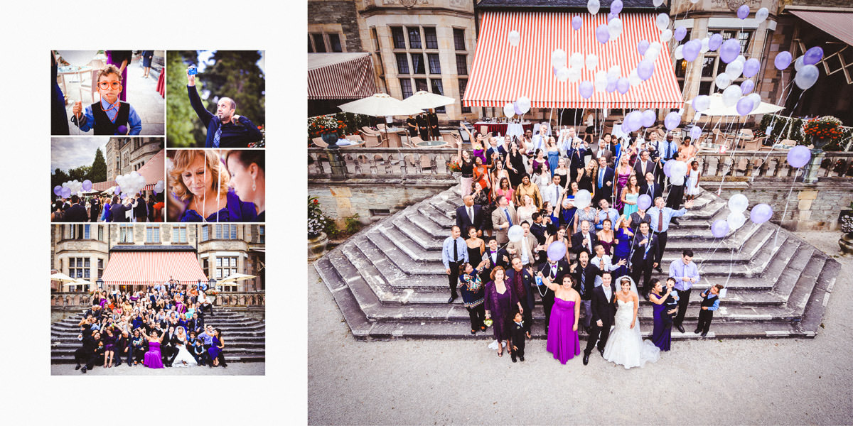 Wild wedding at Schlosshotel Kronberg / Castle Friedrichshof - wonderful couple, mariachi and sparklers