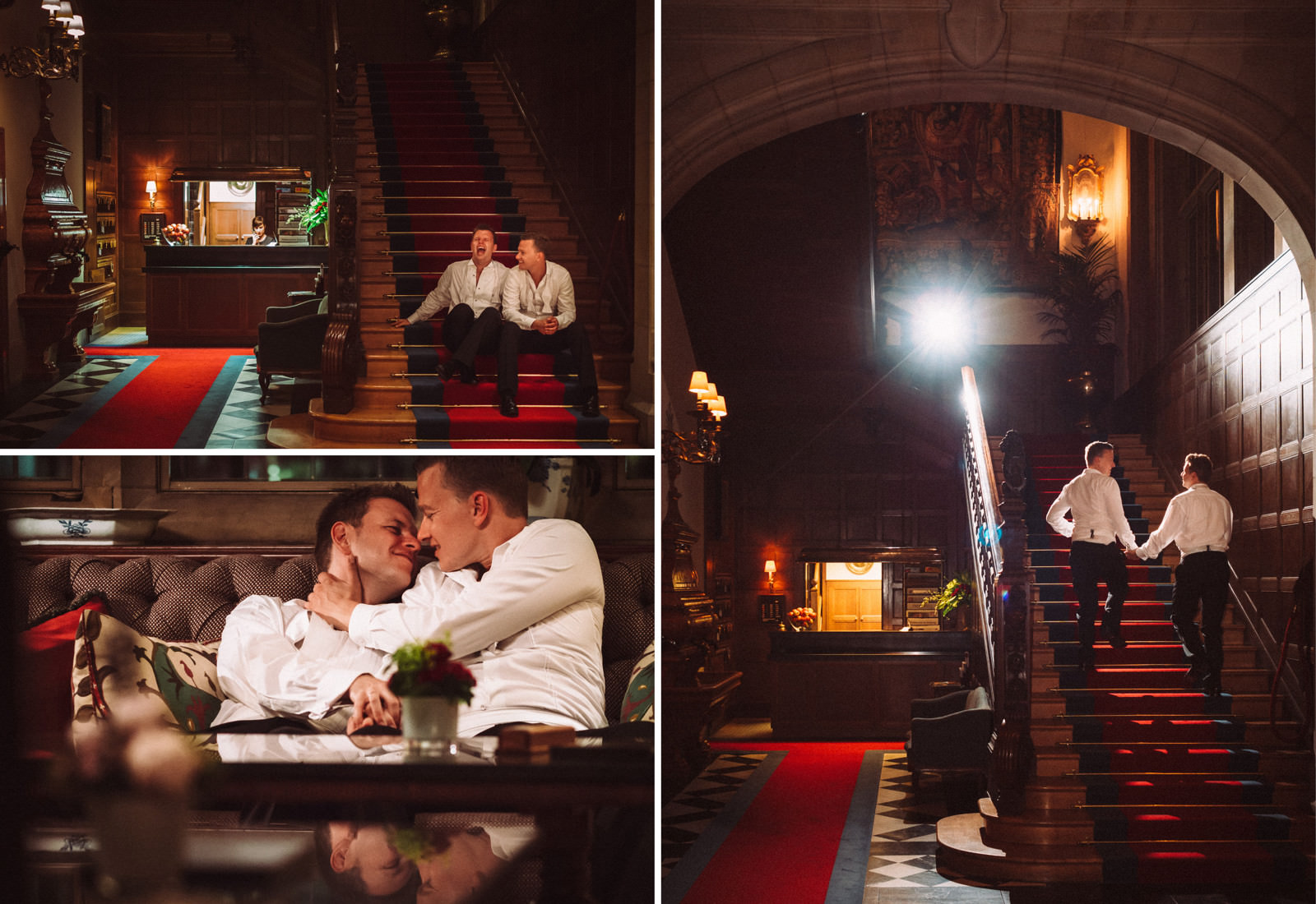 Same-sex wedding at Schlosshotel Kronberg