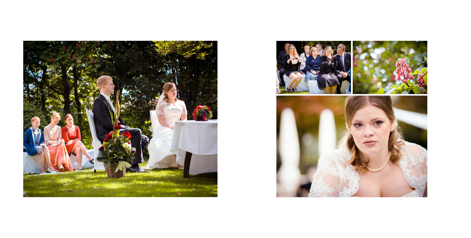 Wedding in the gardens of Schlosshotel Rettershof, Kelkheim