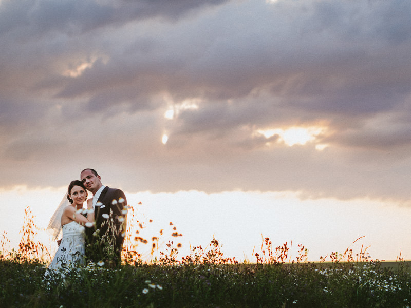 Wedding photos in the fields of the Pfalz